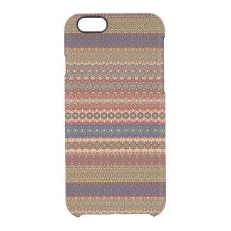 Vintages Stammes- aztekisches Muster Durchsichtige iPhone 6/6S Hülle