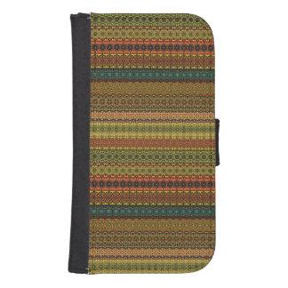 Vintages Stammes- aztekisches Muster Geldbeutel Hülle Für Das Samsung Galaxy S4