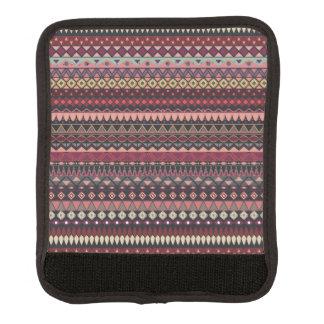 Vintages Stammes- aztekisches Muster Gepräckgriffwickel