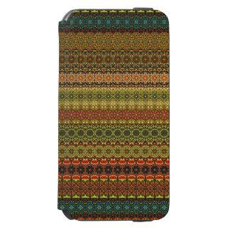 Vintages Stammes- aztekisches Muster Incipio Watson™ iPhone 6 Geldbörsen Hülle