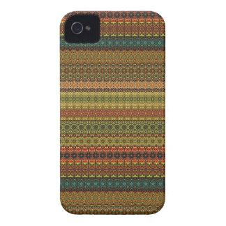 Vintages Stammes- aztekisches Muster iPhone 4 Etuis