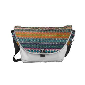 Vintages Stammes- aztekisches Muster Kuriertasche