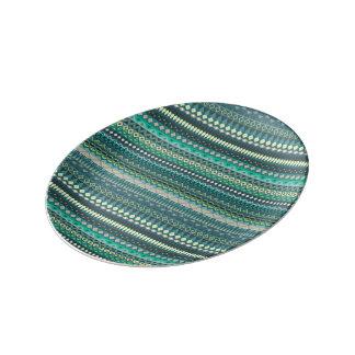 Vintages Stammes- aztekisches Muster Porzellanteller