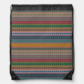 Vintages Stammes- aztekisches Muster Sportbeutel
