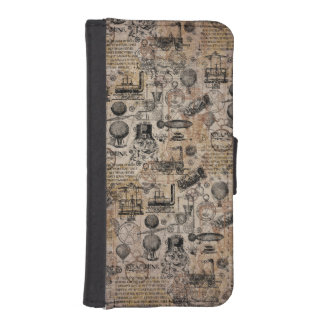Vintages Steampunk iPhone SE/5/5s Geldbeutel Hülle