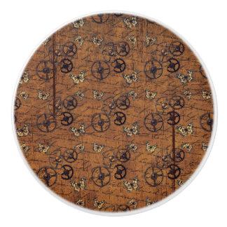 Vintages Steampunk übersetzt Tapete Keramikknauf