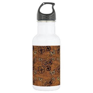 Vintages Steampunk übersetzt Tapete Trinkflasche