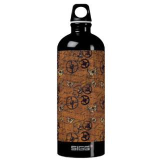 Vintages Steampunk übersetzt Tapete Wasserflasche