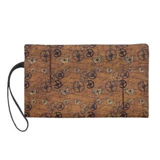 Vintages Steampunk übersetzt Tapete Wristlet Handtasche