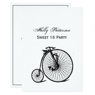 Vintages Steampunk Velocipede-Fahrrad-Fahrrad Karte