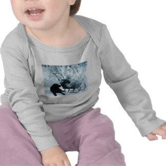 Vintages Stereoview - Baby im Schlitten T Shirt