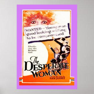 Vintages stiller Film-Plakat Poster