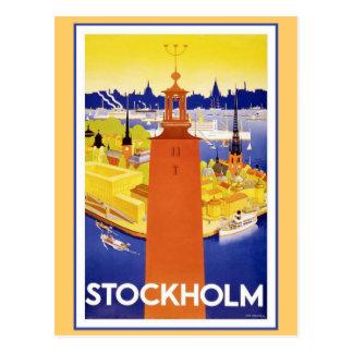 Vintages Stockholm Schweden Postkarte