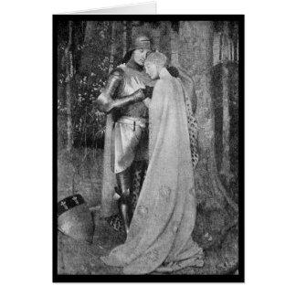 Vintages - süßes Romance - mittleres Alter Grußkarte