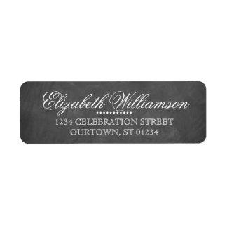 Vintages Tafel-Adressen-Etikett Rücksende Aufkleber