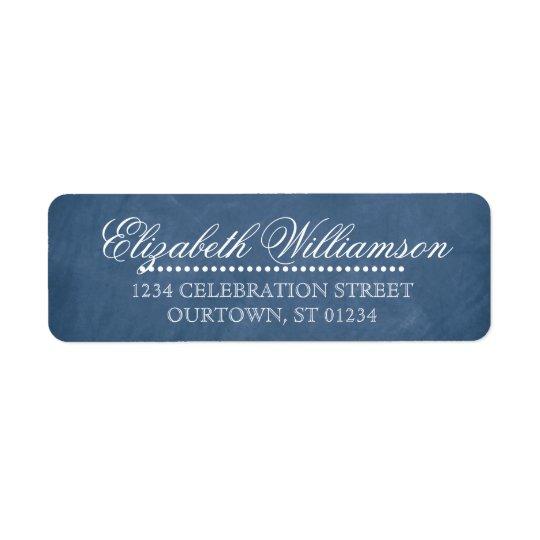 Vintages Tafel-Adressen-Etikett Rückversand-Adressaufkleber