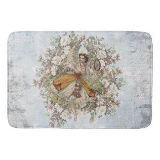 Vintages Tanzen-Sinti und Roma-Blumenmischung und Badematte