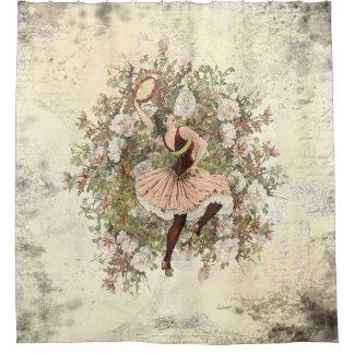 Vintages Tanzen-Sinti und Roma-Blumenmischung und Duschvorhang
