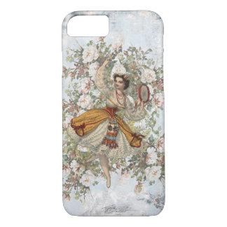 Vintages Tanzen-Sinti und Roma-Blumenmischung und iPhone 8/7 Hülle