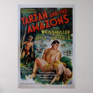 Vintages Tarzan Film-Plakat