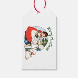 Vintages Teddy-Bärn-Weihnachten Geschenkanhänger