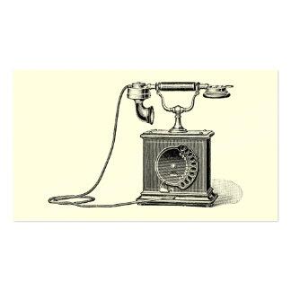 Vintages Telefon-Illustrations-Telefon-Retro Visitenkarten