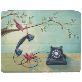 Vintages Telefon u. Vögel iPad intelligente iPad Hülle