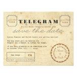 Vintages Telegramm Save the Date Individuelle Ankündigskarten