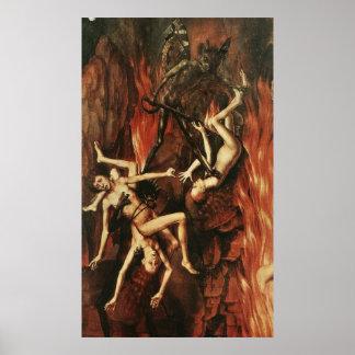 Vintages Teufel-Plakat Poster