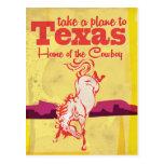 Vintages Texas-Reise-Plakat Postkarten