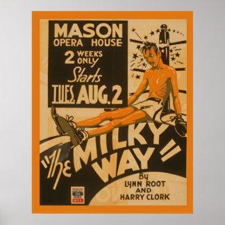 Vintages Theater-Plakat des Milchstraße-Boxer-1938 Poster