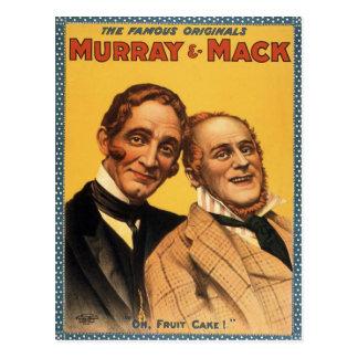Vintages Theater-Plakat Murrays und Mack Postkarte