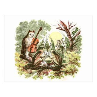 Vintages Tierband Postkarte