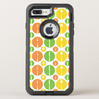Vintages Tischbesteck-Muster OtterBox Defender iPhone 8 Plus/7 Plus Hülle