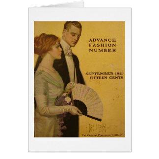 Vintages Titelseite, Sept. 1911 Karte