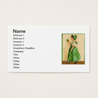 Vintages Tragen der grünen des St Patrick Visitenkarte