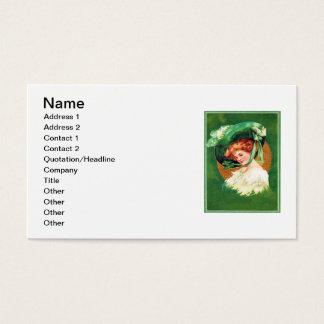 Vintages Tragen der grünen des St Patrick Visitenkarten