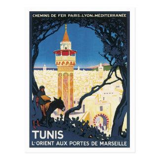Vintages Tunis Afrika Postkarte