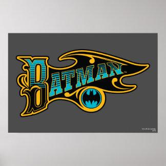 Vintages Türkis-Logo des Batman-| Poster