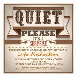 Vintages typografisches individuelle einladungskarte