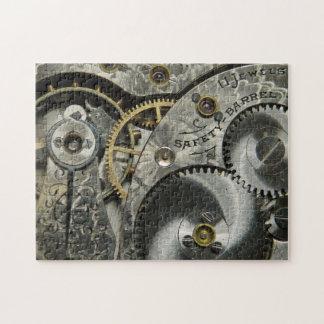 Vintages Uhrwerk-Puzzlespiel Puzzle