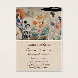 Vintages ukiyo-e japanische Damen mit Visitenkarte