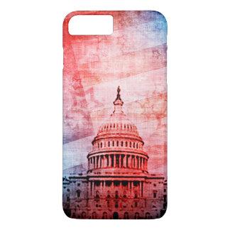 Vintages US-Hauptstadts-Gebäude iPhone 7 Plus Hülle