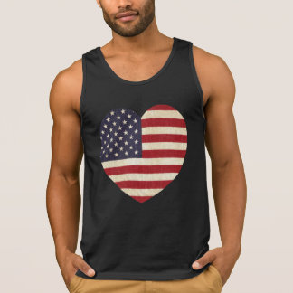 Vintages USA-Flaggen-Herz Tank Top
