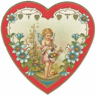 Vintages Valentine-Ahlen-Button Fotoskulptur Button