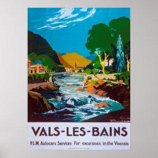 Vintages Vals-les-Bains Franzose-Reise-Plakat 1930 Poster