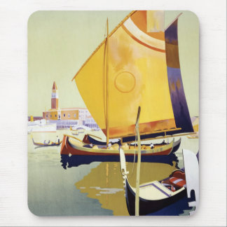 Vintages Venedig-Reise-Plakat Mousepad