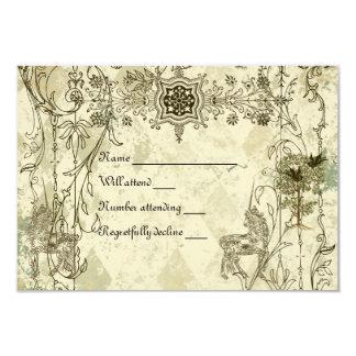 Vintages Verdigrisunicorn-uAwg mit Umschlägen Individuelle Ankündigskarten