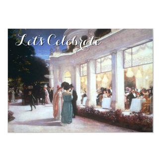 Vintages viktorianisches Abendessen-Party 12,7 X 17,8 Cm Einladungskarte