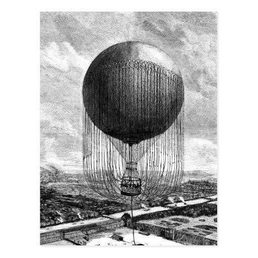 Vintages viktorianisches Ballon-Luftschiff Postkarten